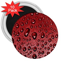 Red Water 3  Magnets (10 Pack)  by AnjaniArt