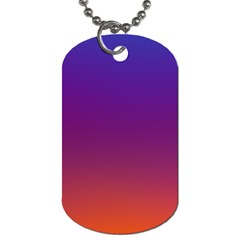 Purple Orange Blue Dog Tag (two Sides) by AnjaniArt