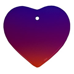 Purple Orange Blue Heart Ornament (2 Sides) by AnjaniArt