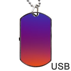 Purple Orange Blue Dog Tag Usb Flash (two Sides)  by AnjaniArt