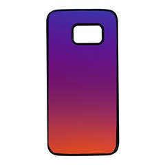 Purple Orange Blue Samsung Galaxy S7 Black Seamless Case