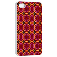 Pink Green Yellow Flower Apple Iphone 4/4s Seamless Case (white) by AnjaniArt