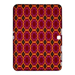 Pink Green Yellow Flower Samsung Galaxy Tab 4 (10 1 ) Hardshell Case  by AnjaniArt