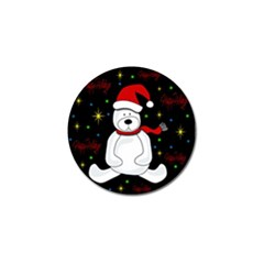 Polar Bear - Xmas Design Golf Ball Marker (10 Pack) by Valentinaart