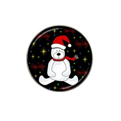 Polar Bear   Xmas Design Hat Clip Ball Marker by Valentinaart