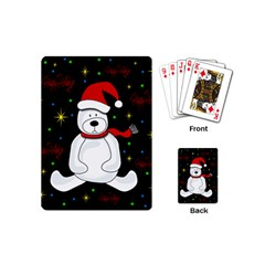 Polar Bear   Xmas Design Playing Cards (mini)  by Valentinaart