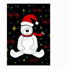 Polar Bear   Xmas Design Large Garden Flag (two Sides) by Valentinaart