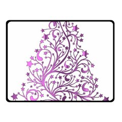 Elegant Starry Christmas Pink Metallic Look Fleece Blanket (small)