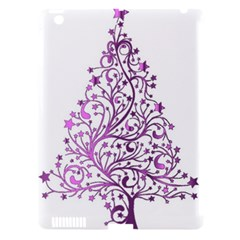 Elegant Starry Christmas Pink Metallic Look Apple Ipad 3/4 Hardshell Case (compatible With Smart Cover)