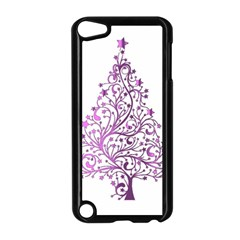 Elegant Starry Christmas Pink Metallic Look Apple Ipod Touch 5 Case (black) by yoursparklingshop