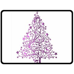 Elegant Starry Christmas Pink Metallic Look Double Sided Fleece Blanket (large)  by yoursparklingshop
