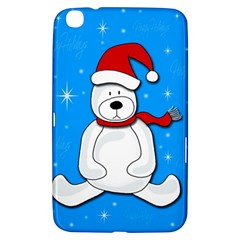 Polar Bear   Blue Samsung Galaxy Tab 3 (8 ) T3100 Hardshell Case  by Valentinaart