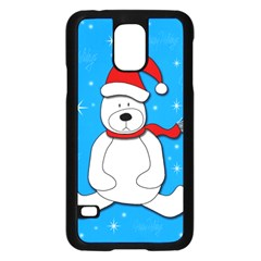 Polar Bear   Blue Samsung Galaxy S5 Case (black) by Valentinaart