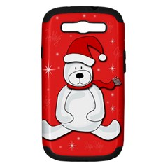 Polar Bear   Red Samsung Galaxy S Iii Hardshell Case (pc+silicone) by Valentinaart