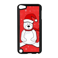 Polar Bear   Red Apple Ipod Touch 5 Case (black) by Valentinaart
