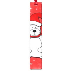 Polar Bear   Red Large Book Marks by Valentinaart