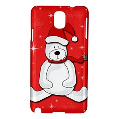 Polar Bear   Red Samsung Galaxy Note 3 N9005 Hardshell Case by Valentinaart