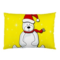Polar Bear   Yellow Pillow Case by Valentinaart