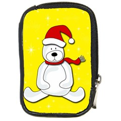Polar Bear   Yellow Compact Camera Cases by Valentinaart