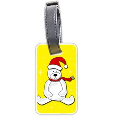 Polar Bear - Yellow Luggage Tags (one Side)  by Valentinaart