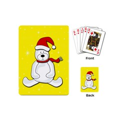 Polar Bear   Yellow Playing Cards (mini)  by Valentinaart