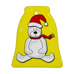Polar Bear   Yellow Bell Ornament (2 Sides) by Valentinaart
