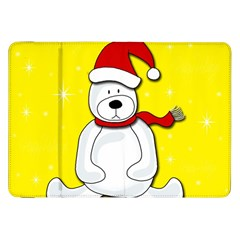 Polar Bear   Yellow Samsung Galaxy Tab 8 9  P7300 Flip Case by Valentinaart