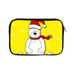 Polar Bear   Yellow Apple Ipad Mini Zipper Cases by Valentinaart