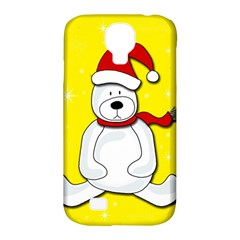 Polar Bear   Yellow Samsung Galaxy S4 Classic Hardshell Case (pc+silicone) by Valentinaart