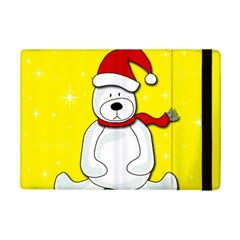 Polar Bear   Yellow Ipad Mini 2 Flip Cases by Valentinaart