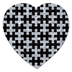 Puzzle1 Black Marble & Gray Marble Jigsaw Puzzle (heart) by trendistuff
