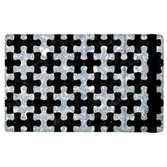 Puzzle1 Black Marble & Gray Marble Apple Ipad 2 Flip Case by trendistuff