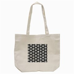 Hexagon2 Black Marble & Gray Marble (r) Tote Bag (cream) by trendistuff