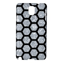 Hexagon2 Black Marble & Gray Marble (r) Samsung Galaxy Note 3 N9005 Hardshell Case