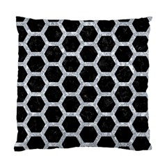Hexagon2 Black Marble & Gray Marble Standard Cushion Case (one Side) by trendistuff