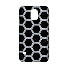 Hexagon2 Black Marble & Gray Marble Samsung Galaxy S5 Hardshell Case  by trendistuff
