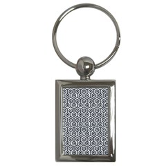 Hexagon1 Black Marble & Gray Marble (r) Key Chain (rectangle) by trendistuff