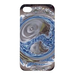 Silver Gray Blue Geometric Art Circle Apple Iphone 4/4s Premium Hardshell Case by yoursparklingshop