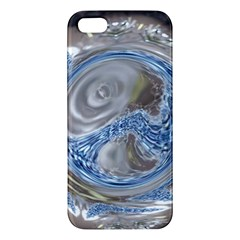 Silver Gray Blue Geometric Art Circle Apple Iphone 5 Premium Hardshell Case by yoursparklingshop