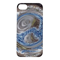 Silver Gray Blue Geometric Art Circle Apple Iphone 5s/ Se Hardshell Case by yoursparklingshop