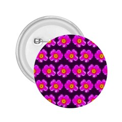 Pink Flower Pattern On Wine Red 2 25  Buttons by Costasonlineshop