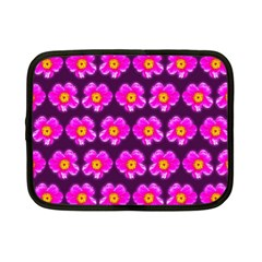 Pink Flower Pattern On Wine Red Netbook Case (small)