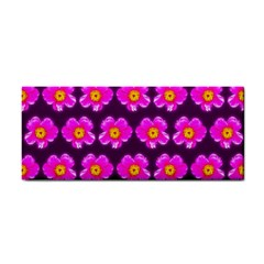 Pink Flower Pattern On Wine Red Cosmetic Storage Cases by Costasonlineshop