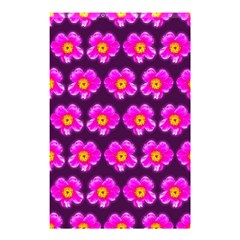 Pink Flower Pattern On Wine Red Shower Curtain 48  X 72  (small)  by Costasonlineshop