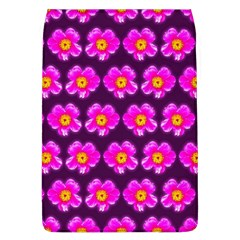 Pink Flower Pattern On Wine Red Flap Covers (l)  by Costasonlineshop