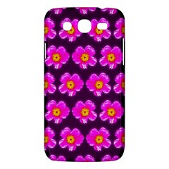 Pink Flower Pattern On Wine Red Samsung Galaxy Mega 5 8 I9152 Hardshell Case  by Costasonlineshop