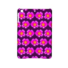 Pink Flower Pattern On Wine Red Ipad Mini 2 Hardshell Cases by Costasonlineshop