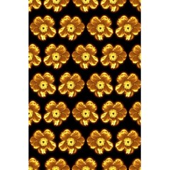 Yellow Brown Flower Pattern On Brown 5 5  X 8 5  Notebooks by Costasonlineshop