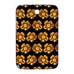 Yellow Brown Flower Pattern On Brown Samsung Galaxy Note 8 0 N5100 Hardshell Case  by Costasonlineshop