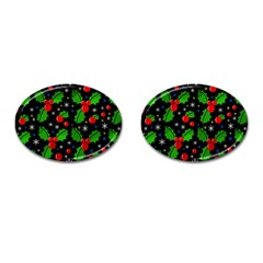 Xmas Magical Pattern Cufflinks (oval) by Valentinaart